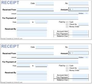 Cash Receipt Template 05