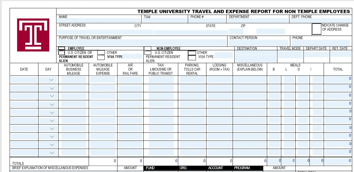 15 Free Expense Report Templates Free Word Templates