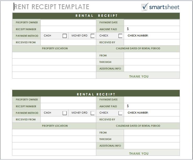Rent Receipt Template 06
