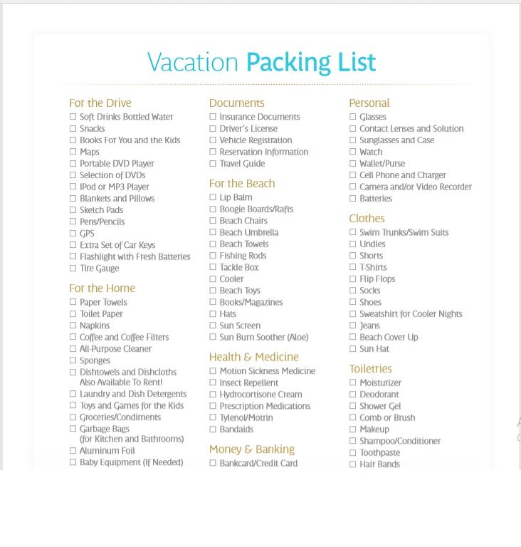 15 Free Printable Packing List Templates