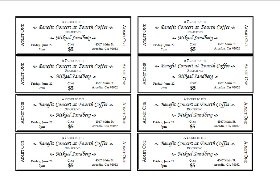 15 Free Ticket Invitation Templates
