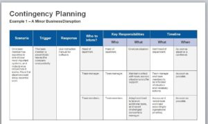 Continuity Plan Template 04