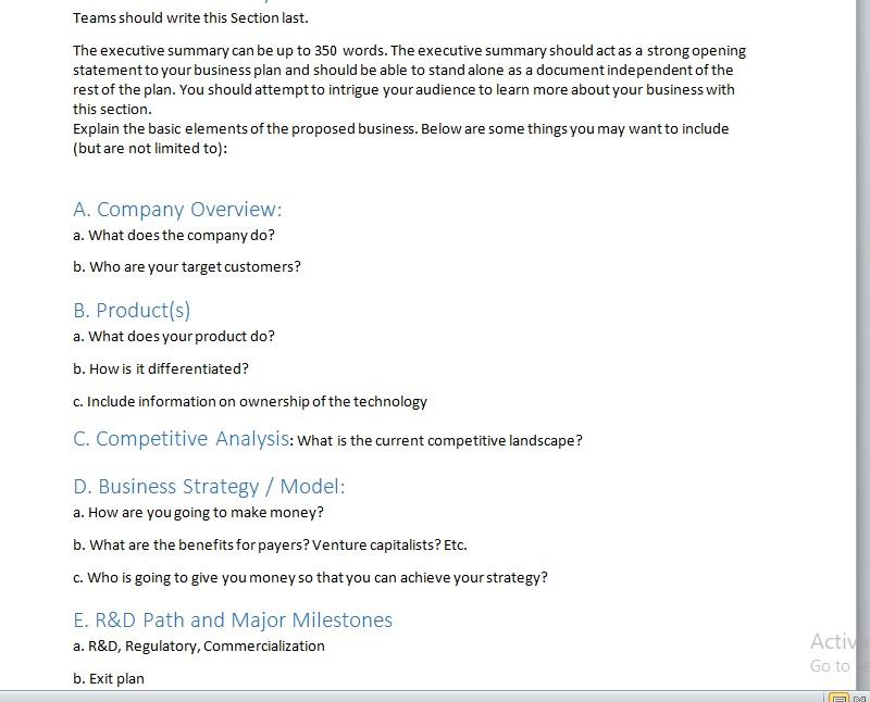 Summary Report Template 06
