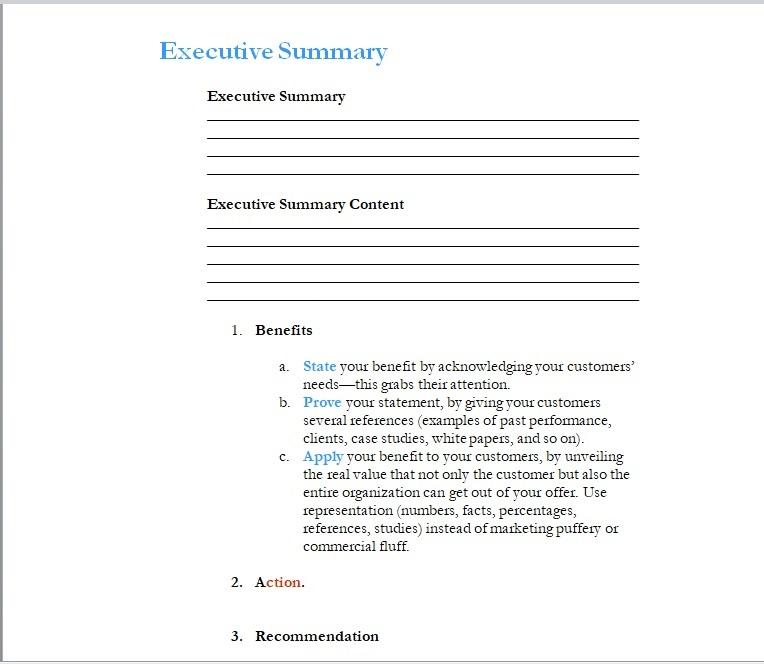 Summary Report Template 08