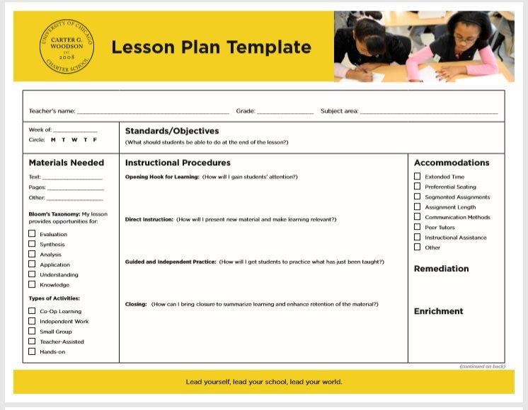 15 Free Lesson Plan Templates