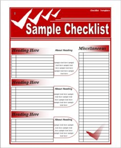 free checklist template 03