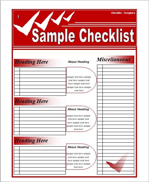 15 Free Checklist Templates