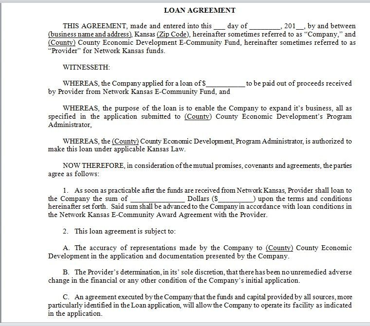 Loan Agreement Template 06