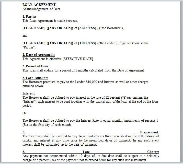 Loan Agreement Template 07