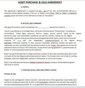 Purchase Agreement Template 01