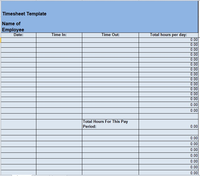 Time Sheet Template 03