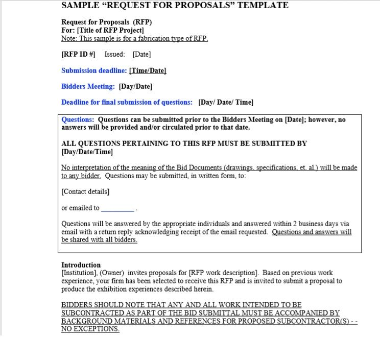 Request For Proposal Template 08