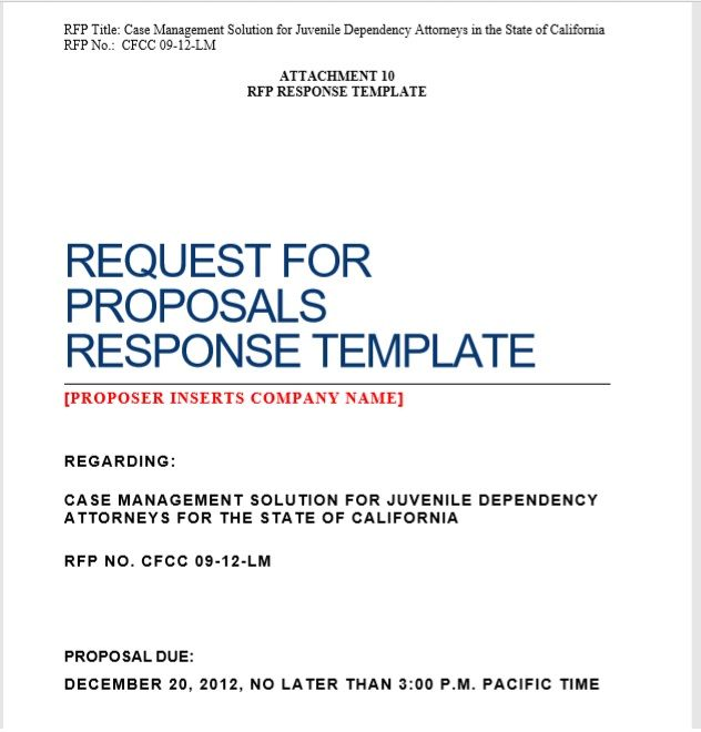 Request For Proposal Template 09