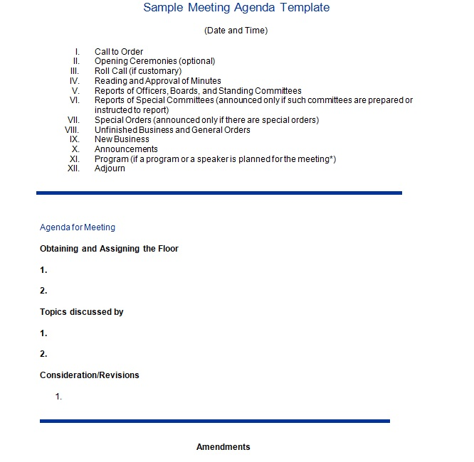 Business Meeting Minutes Template 04
