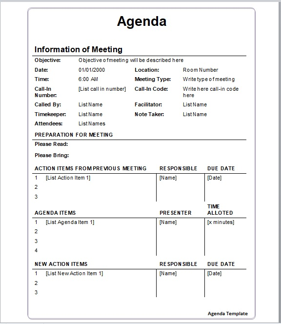 Business Meeting Minutes Template 05
