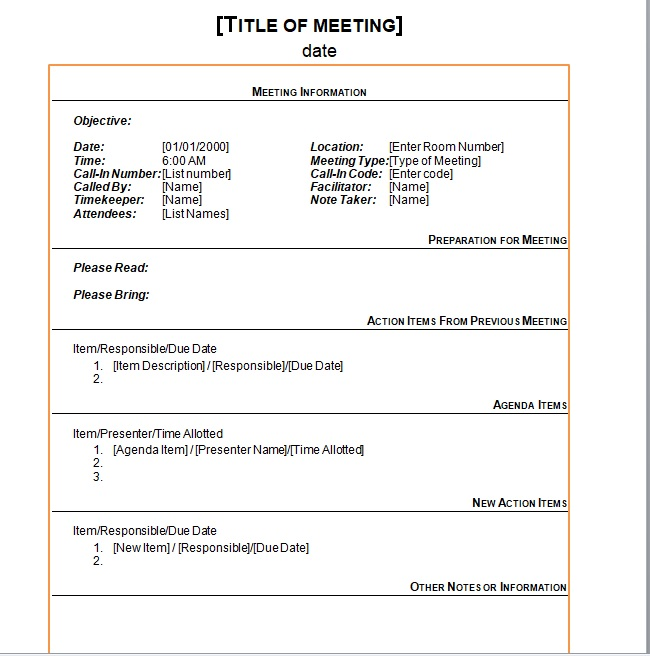 15 Free Business Meeting Minutes Templates