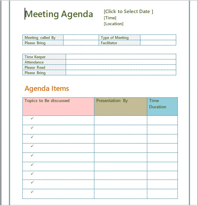 Business Meeting Minutes Template 07
