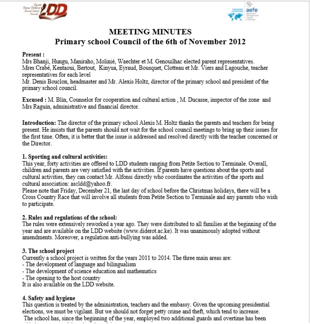 Business Meeting Minutes Template 08