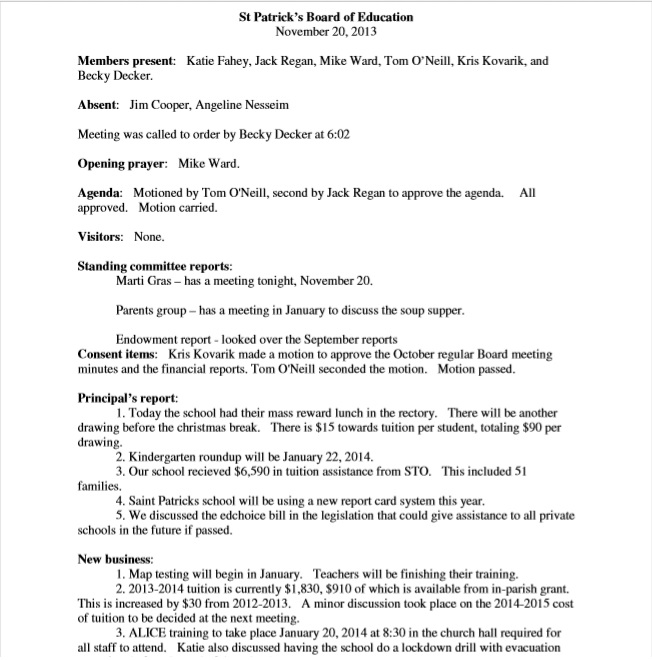 Business Meeting Minutes Template 10