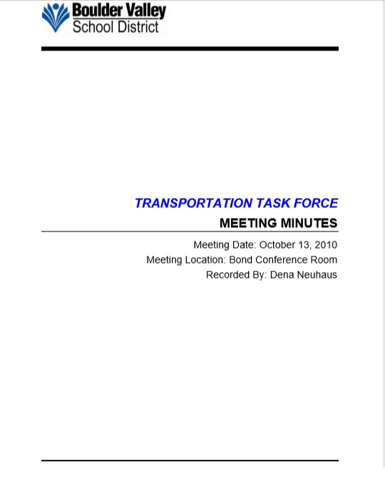 Business Meeting Minutes Template 12