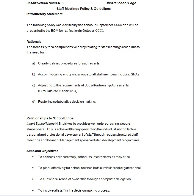 Business Meeting Minutes Template 13
