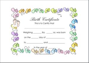 Birth Certificate Template 01