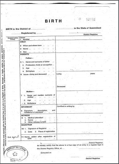 Birth Certificate Template 03