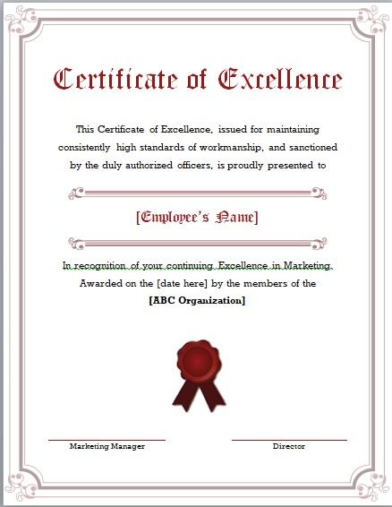 Certificate of Achievement Template 02
