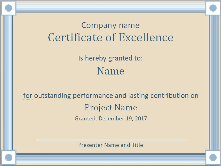 Certificate of Achievement Template 11