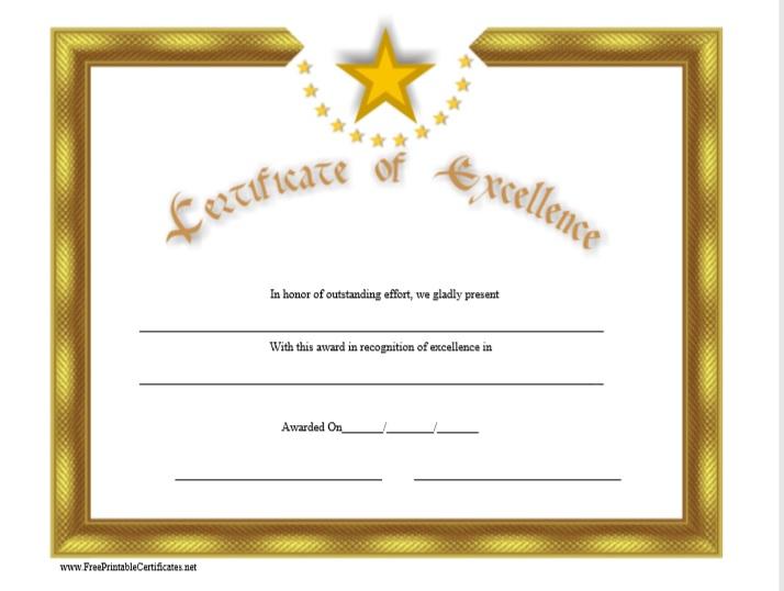 Certificate of Achievement Template 15