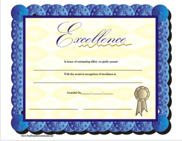 Certificate of Achievement Template 16