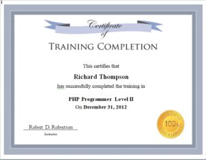 certificate of completion template 07