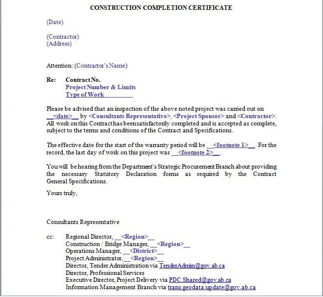 Certificate of Completion Template 11
