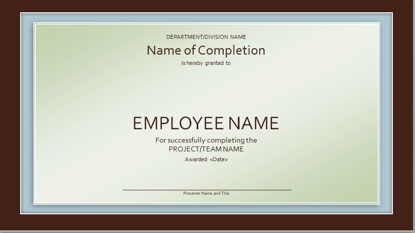 Certificate of Completion Template 15