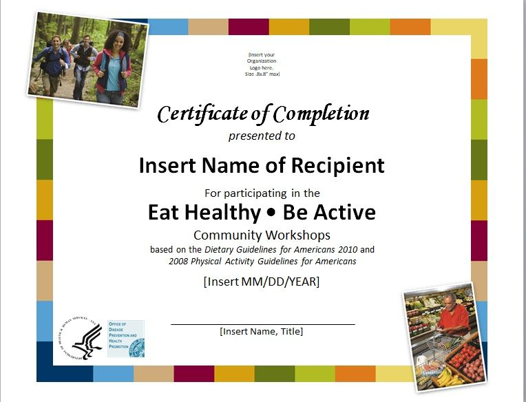Certificate of Completion Template 20