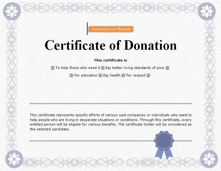 Donation Certificate Template 04