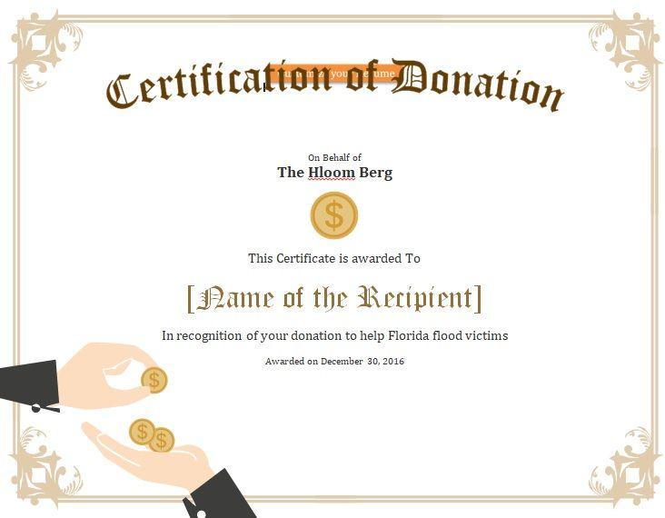 Donation Certificate Template 07