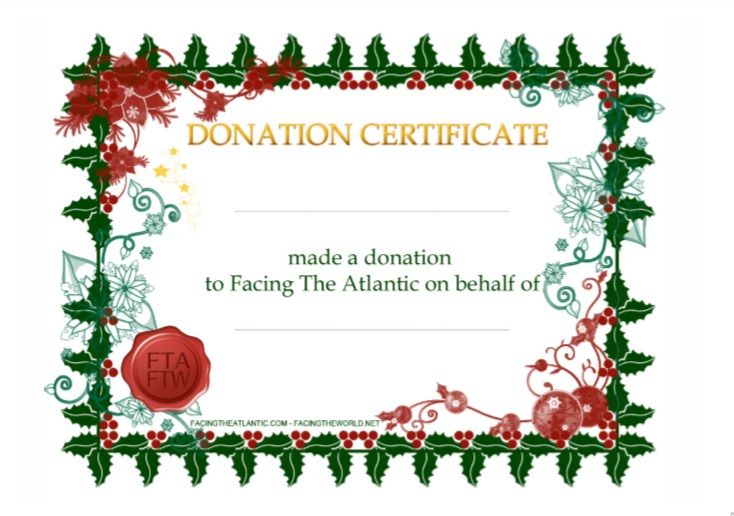 Donation Certificate Template 08