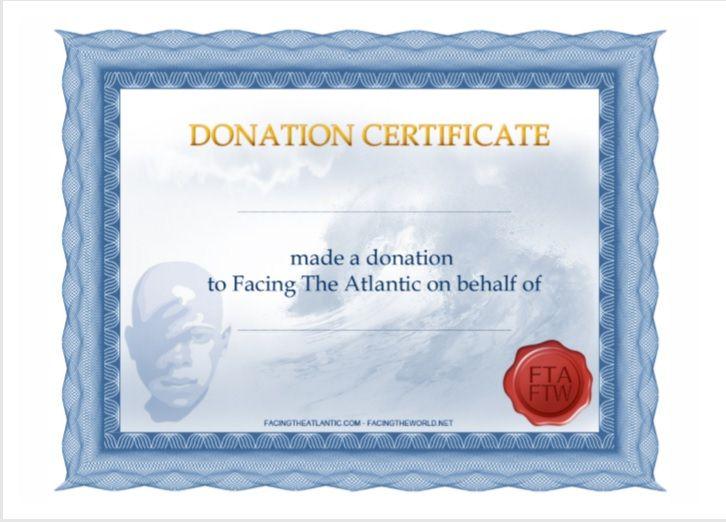 Donation Certificate Template 12