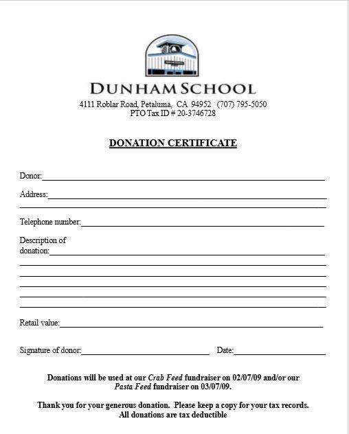 Donation Certificate Template 13