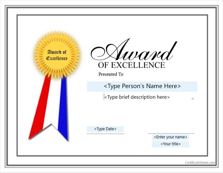 Second Prize Certificate Template 06