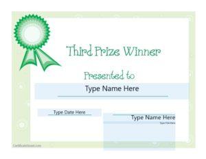 second prize certificate template 09
