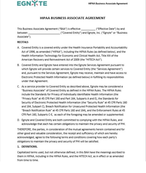 Business Associate Agreement Template 03