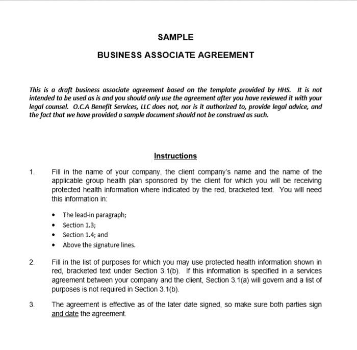 Business Associate Agreement Template 04