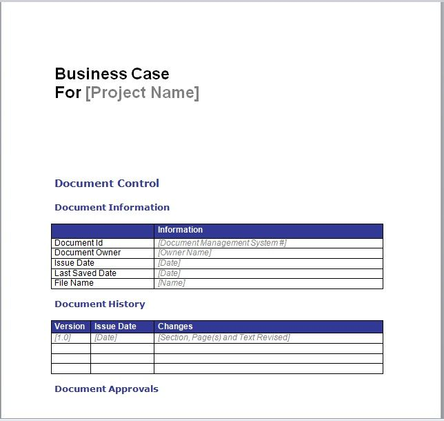 Business Case Template 02