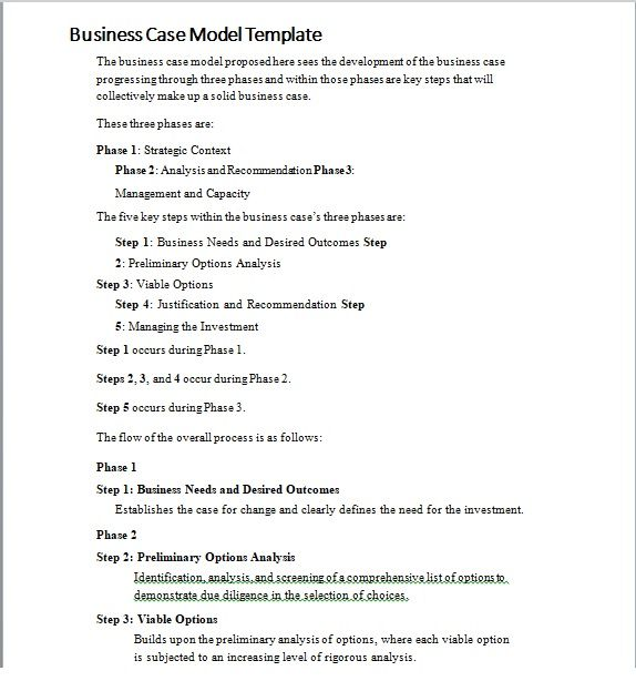Business Case Template 07