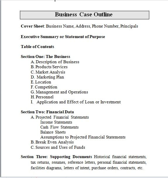 Business Case Template 08
