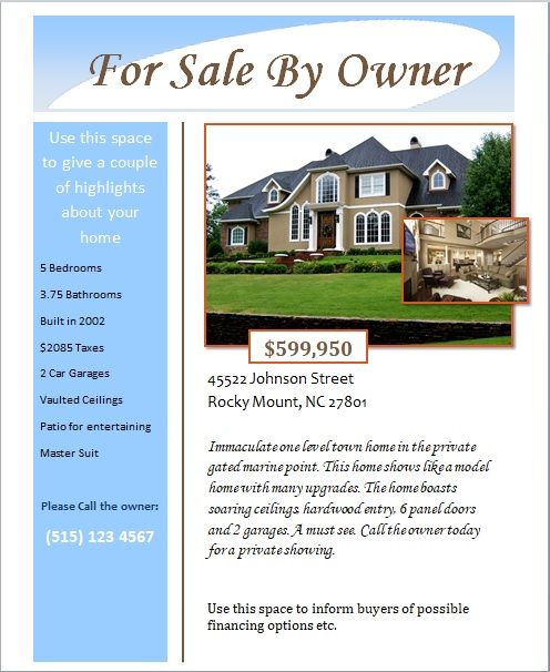 open house flyer template 12