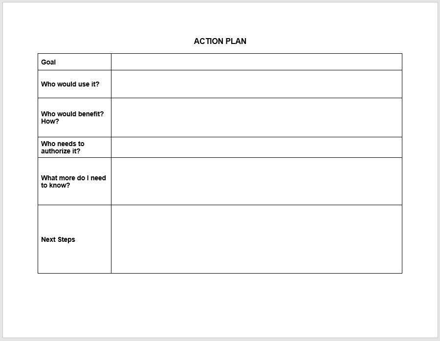 action plan template 08