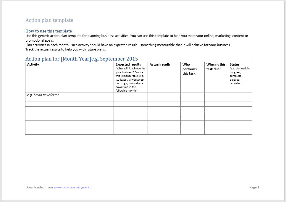 action plan template 12